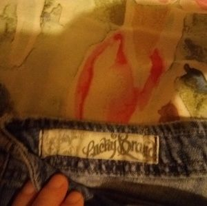 Lucky brand jeans size 14 32 inseam